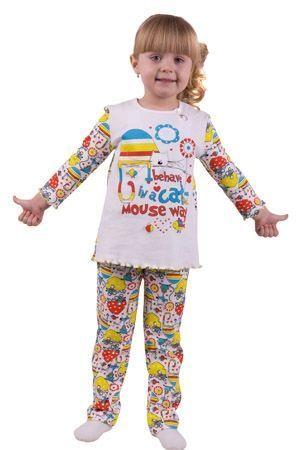 Пижама для девочки Кот и мышка