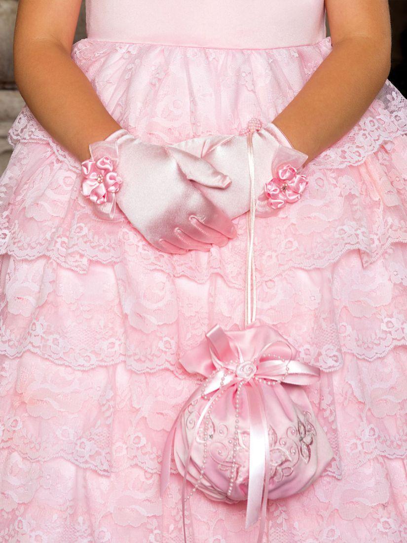 Перчатки для девочек Розовая роза