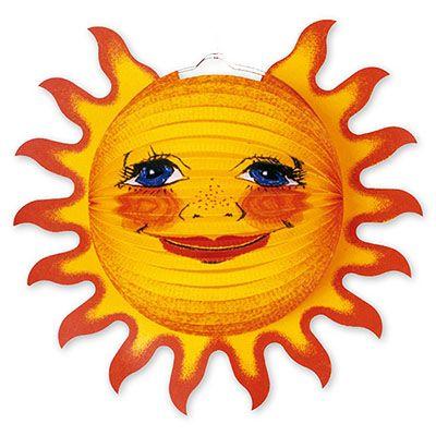 Фонарик бумажный Солнышко