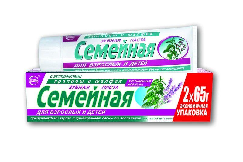 Зубная паста Семейная с экстрактом крапивы и шалфея