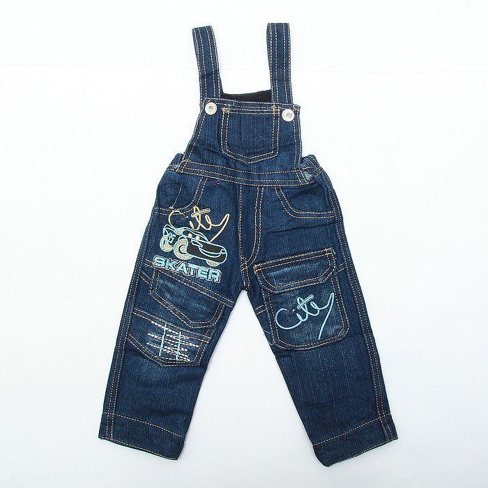 Полукомбинезон джинсовый (Размер: 92)