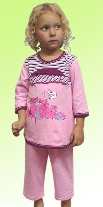 Пижама для девочки Вишенки (Размер: 122-128)
