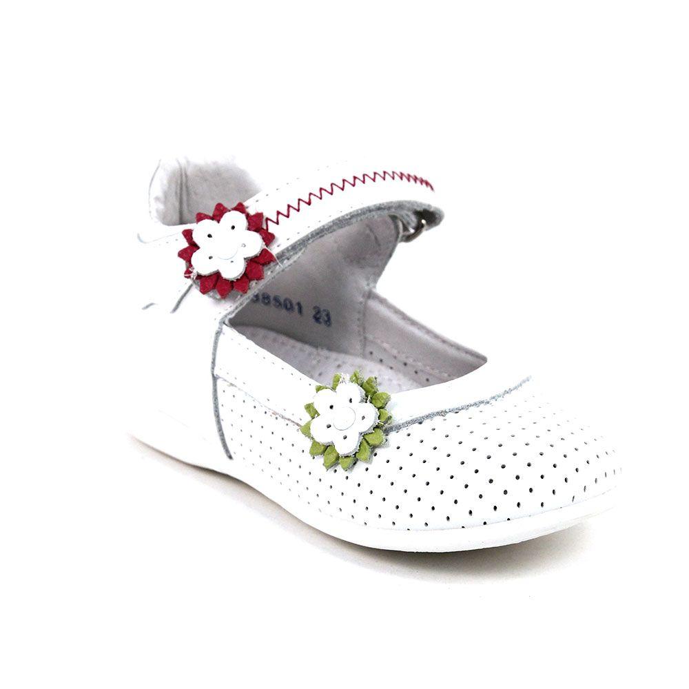 Туфли для девочки размер 22 цвет белый