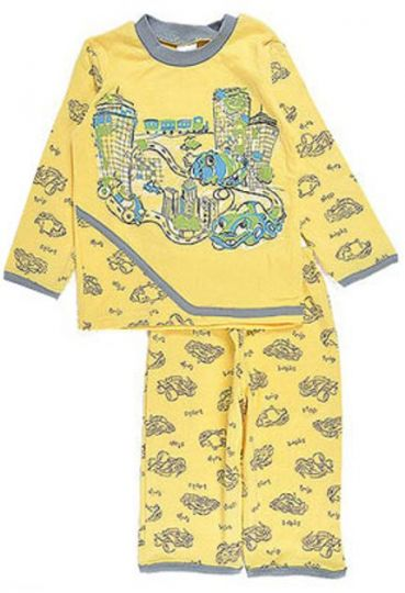 Пижама для мальчика желтая