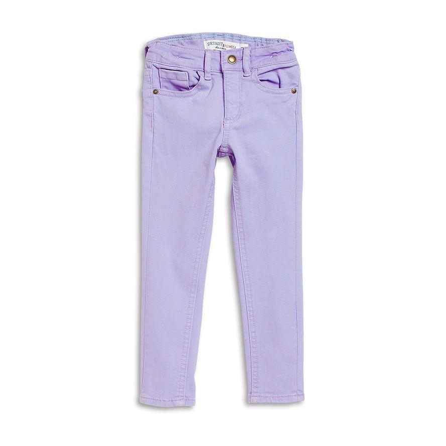 Сиреневые зауженные джинсы для девочки