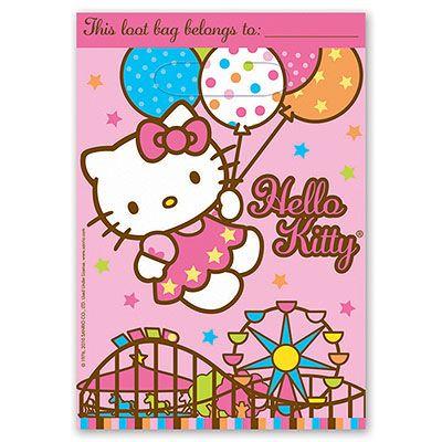 Пакетики для сувениров Hello Kitty, 8шт.