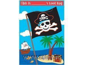 Пакеты для сувениров Пираты, 8 штук