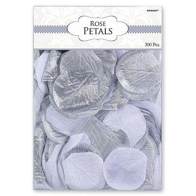 Лепестки Свадебные серебряные и белые