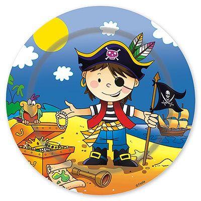 Тарелки малые Маленький пират, 17 см