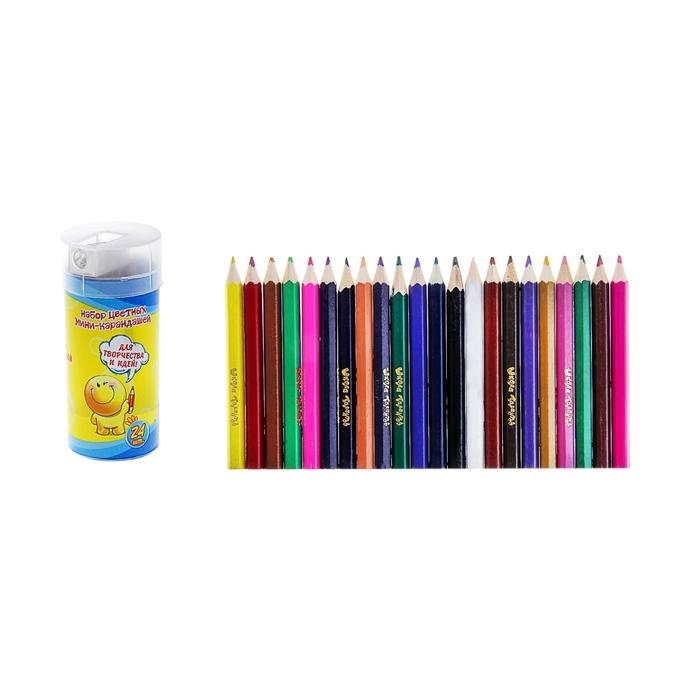 Набор мини-карандаши с точилкой