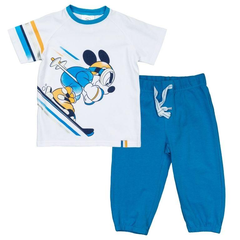 Голубой комплект для мальчика Снежные гонки