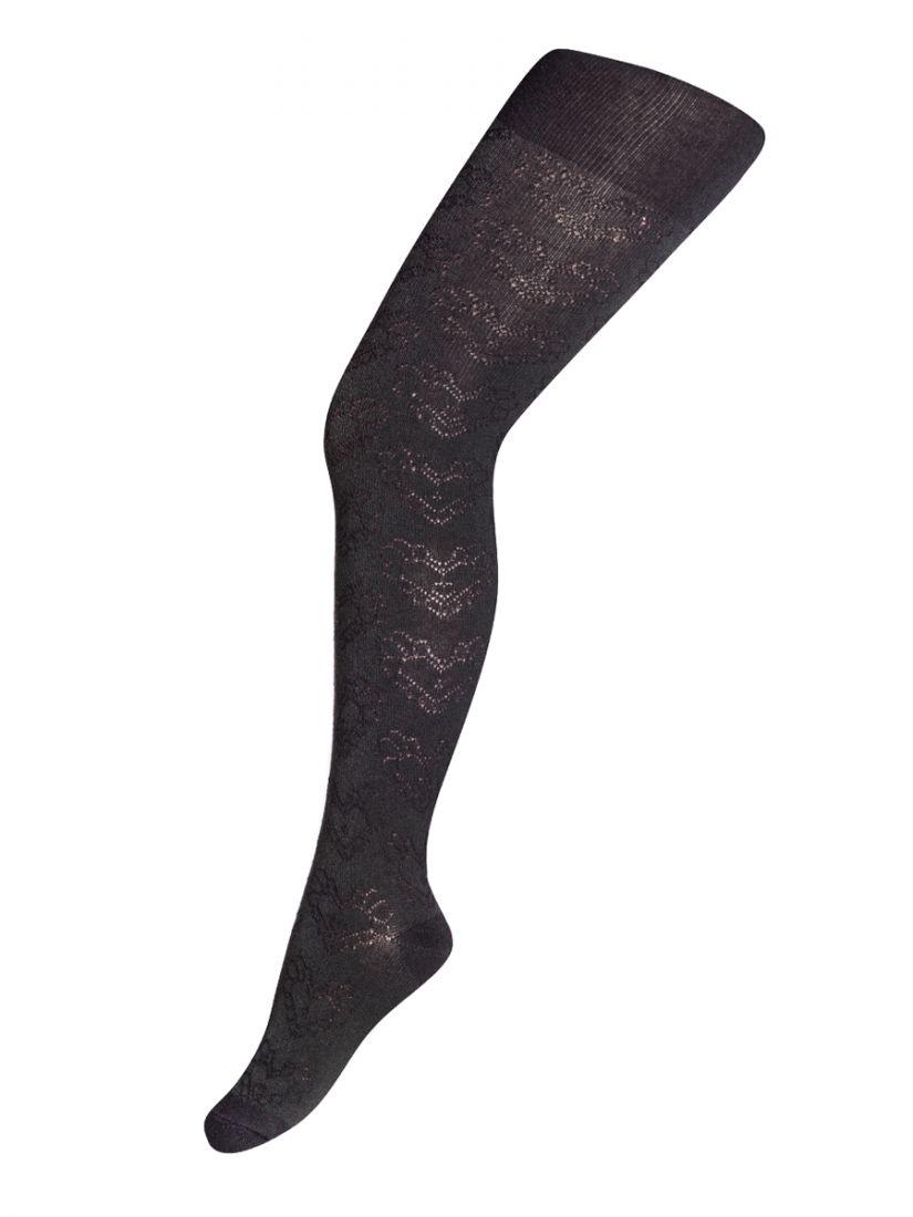 Колготки для девочки черного цвета, размер 128-134