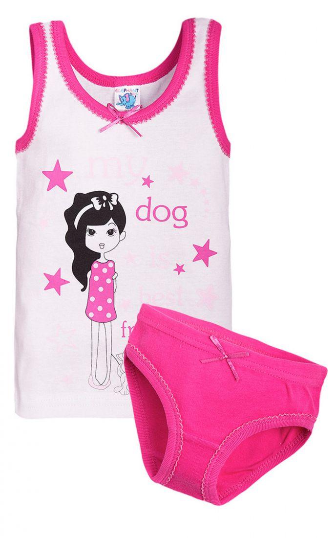 Комплект белья для девочки Dog