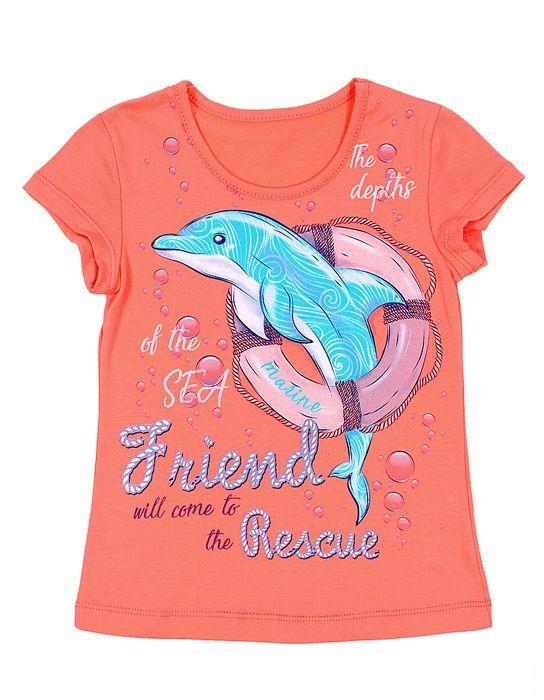 Футболка для девочки Дельфин