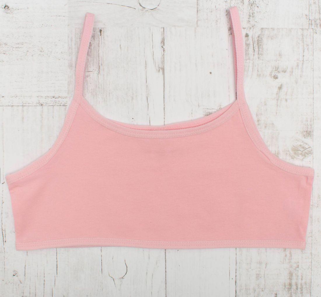Розовая майка (топ) для девочки
