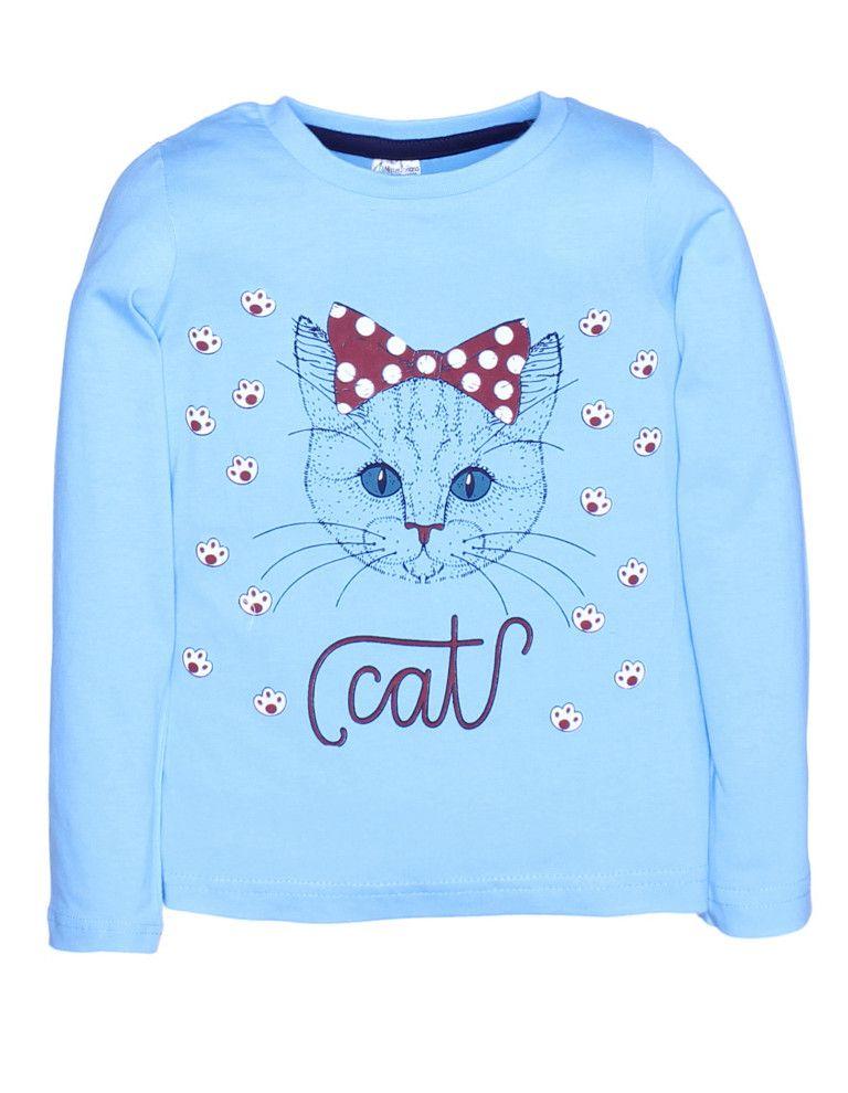 Лонгслив для девочки Little cat